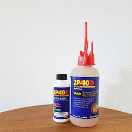 kit Pegamento 2P10 Thick de viscosidad gruesa de 10 oz (283g) y activador de 2oz
