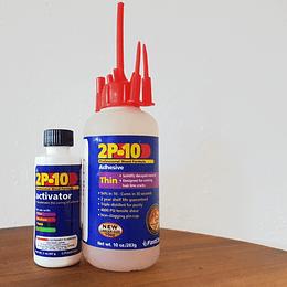 kit Pegamento 2P10 Thin de viscosidad delgada de 10 oz (283g)