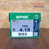 Tornillo Spax para madera torx 4.0 x 15 mm, T20 1000pz