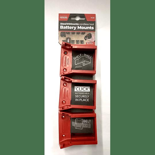 Soporte para baterias Milwaukee M18 - 6 piezas