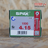 Spax para fijación de herrajes 4x15mm Z2 1000pz INCLUYE PUNTA