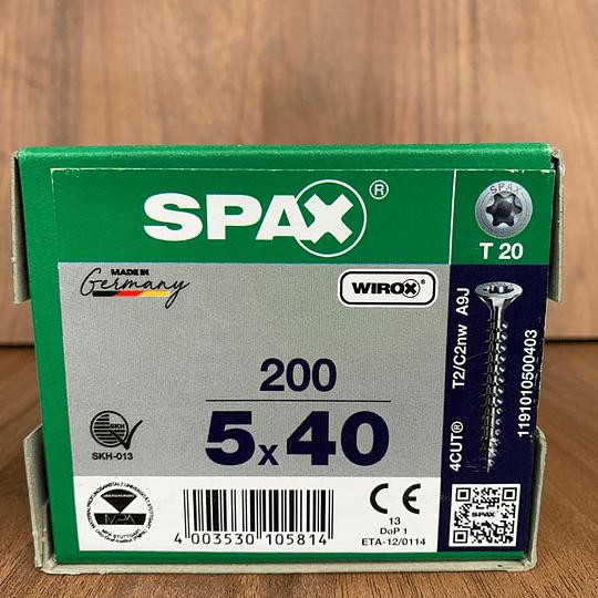 Spax Madera 5x40mm T20 200pz