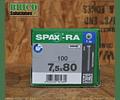 Spax Ra 7.5x80mm T30 100pz