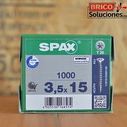 Spax Madera 3.5x15mm T20 1000pz