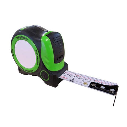 Flexometro Verde auto-16. sistema imperial y auto bloqueante
