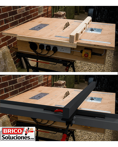 Guía lateral para sierra de mesa - Acero 1.20m
