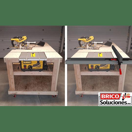 Guía lateral para sierra de mesa - Aluminio 1.20 mts.