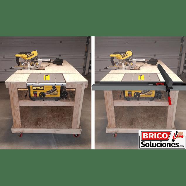Guía lateral para sierra de mesa - Aluminio 1.20m