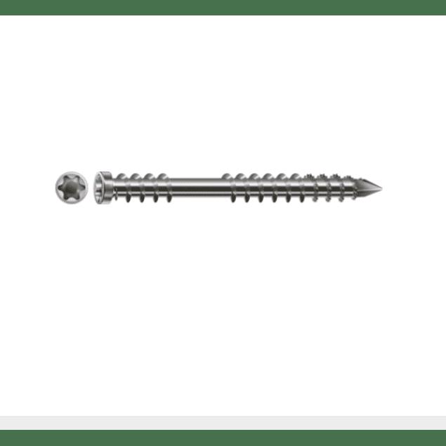 Tornillo Spax-D inoxidable A2  para pisos de madera (DECK) 5 x 50 mm T-25 200pz