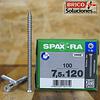 Spax Ra 7.5x120mm T30 100pz