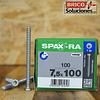 Spax Ra 7.5x100mm T30 100pz