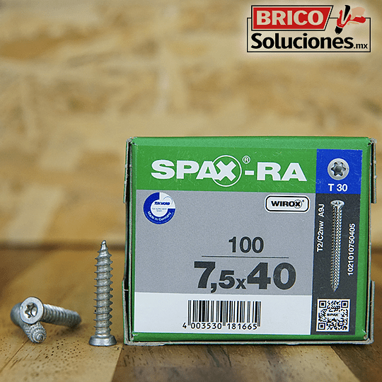 Spax Ra 7.5x40mm T30 100pz