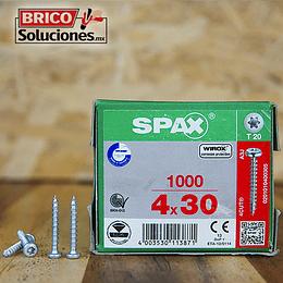 Spax para fijación de herrajes 4x30mm T20 1000pz