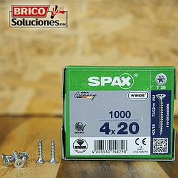 Spax Madera 4x20mm T20 1000pz
