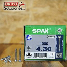 Spax Madera 4x30mm T20 1000pz