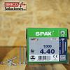 Spax Madera 4x40mm CUERDA CORRIDA T20 1000pz