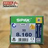 Spax para VIGAS de madera 8x160mm T40 50pz