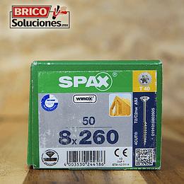 Spax para VIGAS de madera 8x260mm T40 50pz