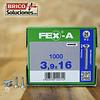 Spax Fex-A Cabeza plana punta de broca 3,9x16mm H2 1000pz