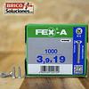 Spax Fex-A Cabeza plana punta de broca 3,9x19mm H2