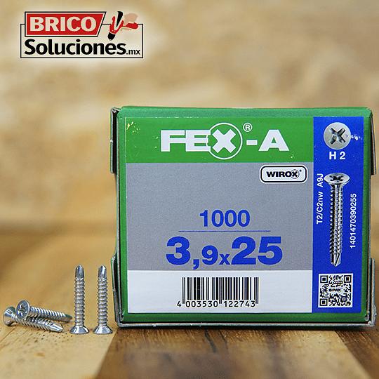 Spax Fex-A Cabeza plana punta de broca 3,9x25mm H2