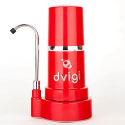 Purificador de Agua sobre cubierta rojo