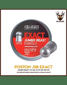 POSTON JSB EXACT JUMBO BEAST 5.5 MM 33.95 GR 150 UN