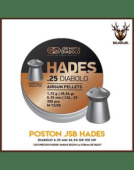 POSTON JSB HADES 6.35 MM 26.54 GR 150 UN