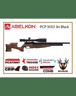 RIFLE PCP ASELKON MX5 JET BLACK 5.5 MM