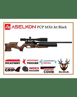RIFLE PCP ASELKON MX6 JET BLACK 5.5 MM