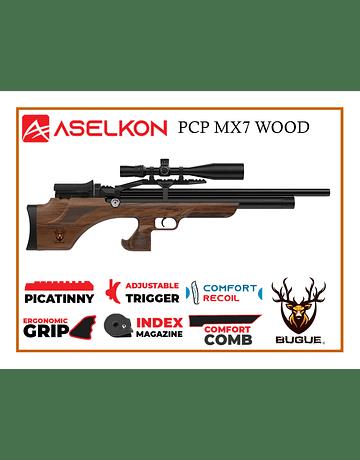 RIFLE PCP ASELKON MX7 WOOD 5.5 MM