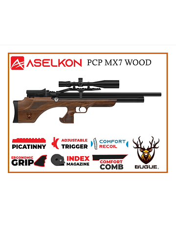 RIFLE PCP ASELKON MX7 WOOD 5.5 MM