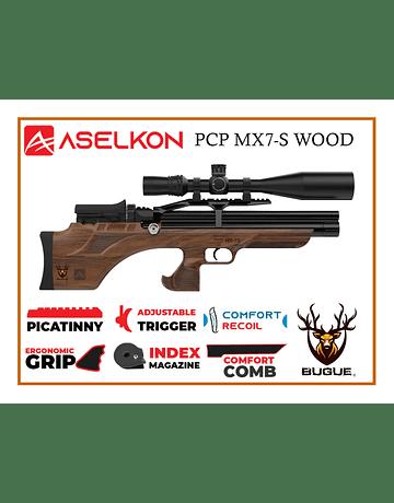 RIFLE PCP ASELKON MX7-S WOOD 5.5 MM