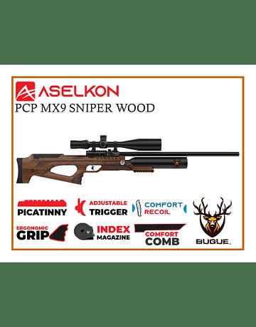 RIFLE PCP ASELKON MX9 SNIPER WOOD 5.5 MM