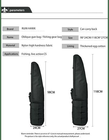 FUNDA RIFLE ACOLCHADA con relieve 120x27 CM