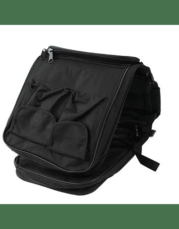 Funda y mochila con bolsillos 120x29cm Negra