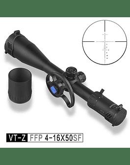 Mira Telescópica Marca: Discovery Modelo: VT-Z 4-16X50 SF FFP PRIMER PLANO