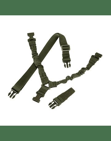 Correa Tactica de 1 punta metalica Negro