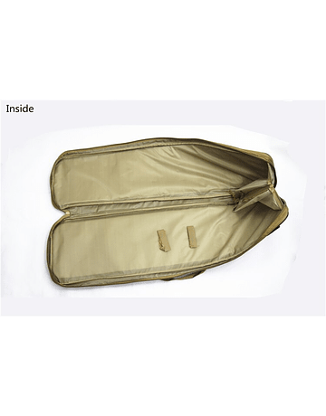 Funda y mochila con bolsillos 100x29cm Café