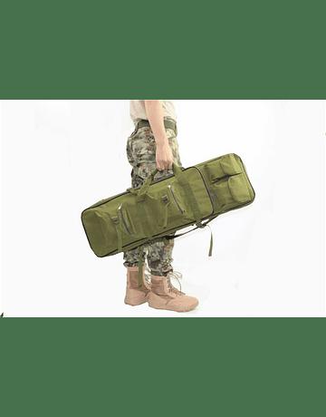 Funda y mochila con bolsillos 120x29cm Verde