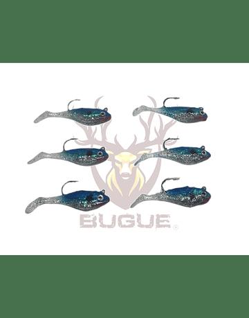 Set 6 Señuelos de Vinilo Modelo 2 color azul