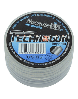 Postón Technogun  Nocaute 5.5 mm 125 un
