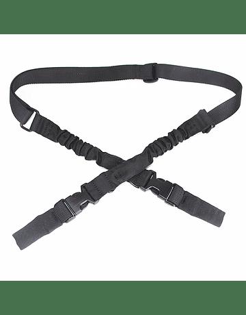 Correa Tactica de 2 puntas metalicas Negro
