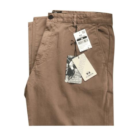 Pantalón Slim Fit Hombre  color beige oscuro 38 La Martina