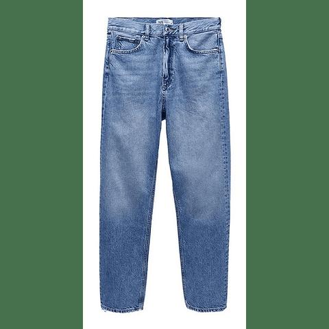 Jeans the Relaxed Straight azul claro talla 42 Zara
