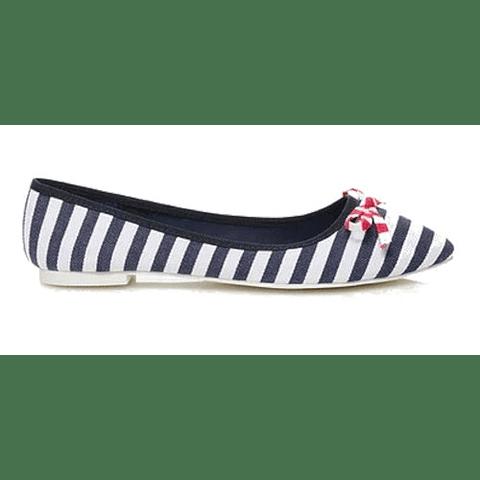 Zapatos Ballerina Rayado Talla 36 CL Benetton