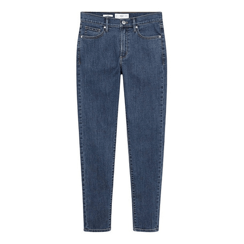 Jeans Skinny Tiro Medio Elsa Azul 36 Mango