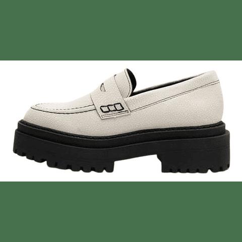 Zapatos Mujer Crema 6 US Vía Uno