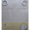 Pack 2 Cortinas Tela Con Ojetillos Crema Casa Ideas