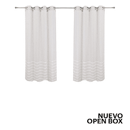 Cortinas Velo Lineas Beige Just Home Collection